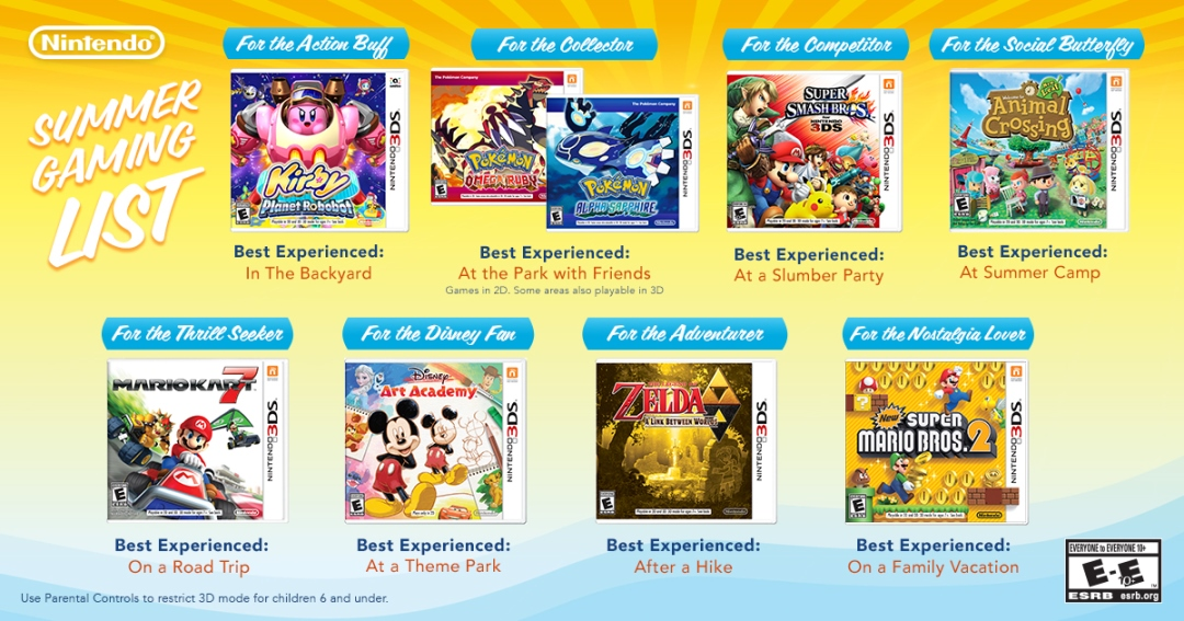 Summer Gaming List για το 3DS από τη Nintendo