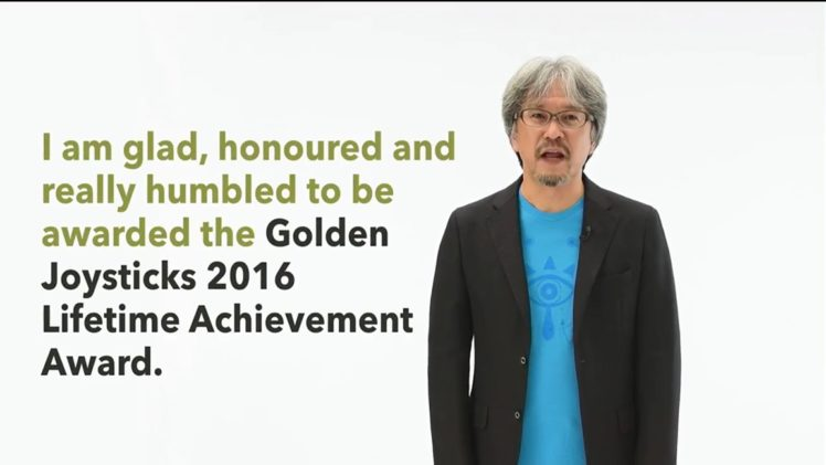 Lifetime Achievement Award για τον Eiji Aonuma στο Golden Joysticks