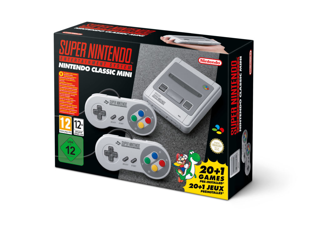 Super Nintendo Entertainment σε μέγεθος μίνι