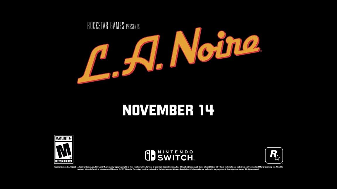 Νέο υλικό από το L.A. Noire στο Switch