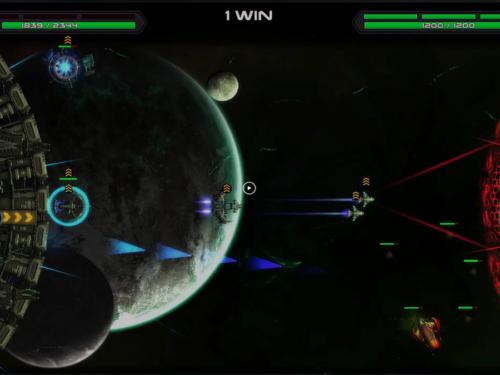 Space war arena gameplay